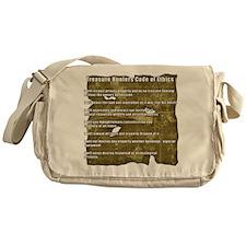 Treasure Hunter Code of Ethics Messenger Bag