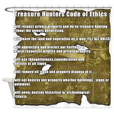 Treasure Hunter Code of Ethics Shower Curtain