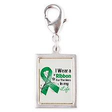 Ribbon Hero Liver Cancer Silver Portrait Charm