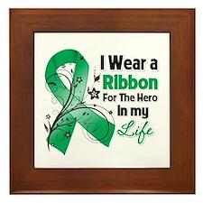 Ribbon Hero Liver Cancer Framed Tile