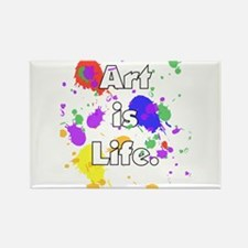 Art is Life -- Rectangle Magnet