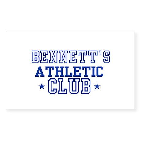 Bennett Rectangle Sticker