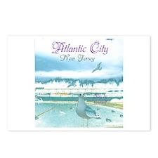 BOARDWALK VIEW. ATLANTIC CITY, NJ. Postcards (Pack