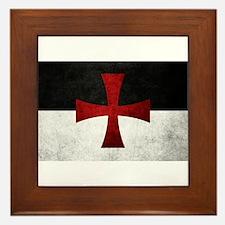Templar Flag Framed Tile