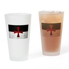 Templar Flag Drinking Glass