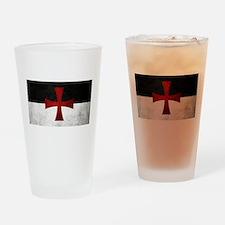 Templar Flag Drinking Glass