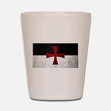 Templar Flag Shot Glass