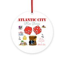 ON THE ATLANTIC CITY BOARDWALK. Ornament (Round)