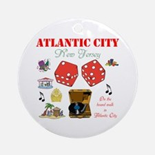 ON THE ATLANTIC CITY BOARDWALK. Ornament (Round)
