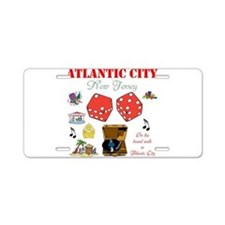 ON THE ATLANTIC CITY BOARDWALK. Aluminum License P