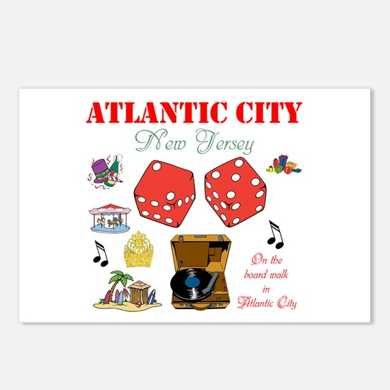 ON THE ATLANTIC CITY BOARDWALK. Postcards (Package