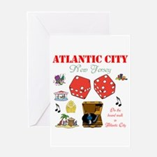 ON THE ATLANTIC CITY BOARDWALK. Greeting Card