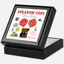 ON THE ATLANTIC CITY BOARDWALK. Keepsake Box