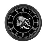 Gothic skull initial t Giant Clocks