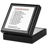 PMS Explained Keepsake Box