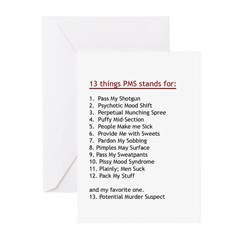 PMS Explained Greeting Cards (Pk of 10)