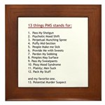 PMS Explained Framed Tile