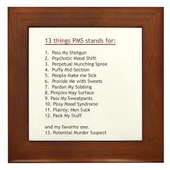 PMS Explained Framed Tile