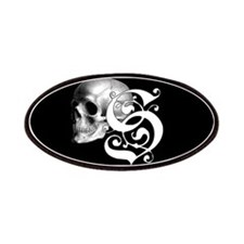 Gothic Skull Initial S Patches