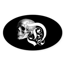 Gothic Skull Initial D Decal