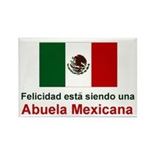 Happy Mexican Grandmother(Abuela) Rectangle Magnet
