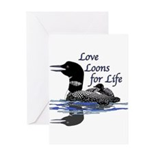 Love Loons for Life Greeting Card