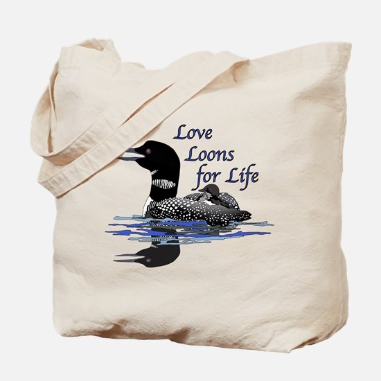 Love Loons for Life Tote Bag