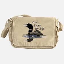 Love Loons for Life Messenger Bag