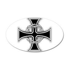 Barbed Templar Cross Wall Decal