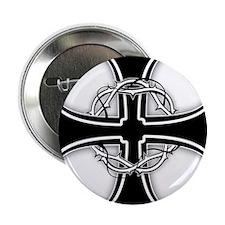 "Barbed Templar Cross 2.25"" Button (10 pack)"