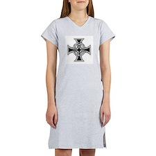 Barbed Templar Cross Women's Nightshirt