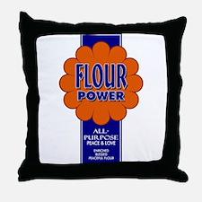 Flour Power Throw Pillow