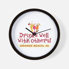 Orange Beach-Drinks Well Wall Clock