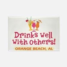 Orange Beach-Drinks Well Rectangle Magnet