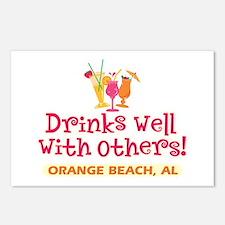 Orange Beach-Drinks Well Postcards (Package of 8)