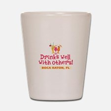 Boca Raton-Drinks Well Shot Glass