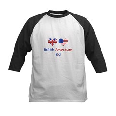 british american kid 7x7 2 Baseball Jersey