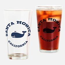 Santa Monica Whaling Drinking Glass