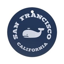 San Francisco Whaling Ornament (Round)