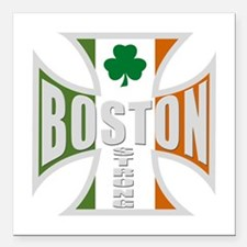 "Irish Boston Pride Square Car Magnet 3"" x 3"""