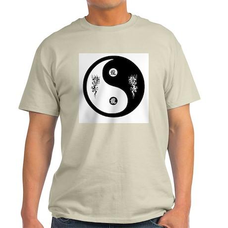 Dragon Ying Yang Ash Grey T-Shirt