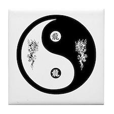 Dragon Ying Yang Tile Coaster