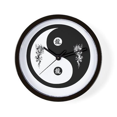 Dragon Ying Yang Wall Clock