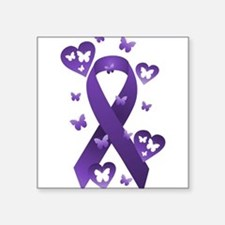 Purple Awareness Ribbon Sticker