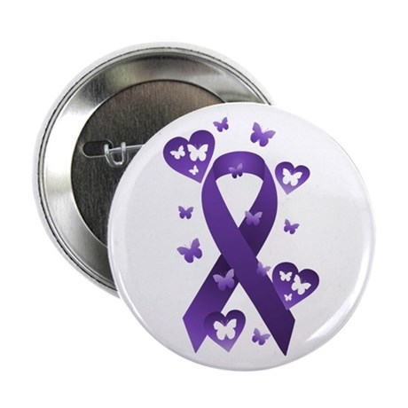 "Purple Awareness Ribbon 2.25"" Button"