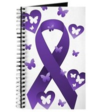 Purple Awareness Ribbon Journal