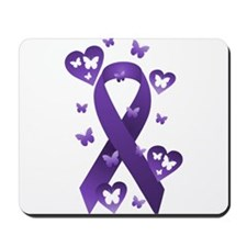 Purple Awareness Ribbon Mousepad