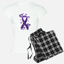 Purple Awareness Ribbon Pajamas