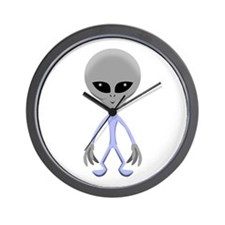 alien man copy Wall Clock
