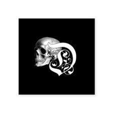 Gothic Skull Initial D Sticker